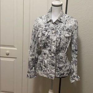 Chicos  jacket size 1 button down long sleeve